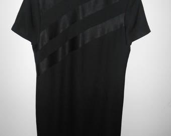 Evan-Picone dress women's black short sleeve crew neck size 10