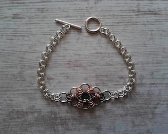 Chainmail bracelet. Chainmail jewellery.  Irish handmade jewellery. Unique gifts. unusual jewellery.