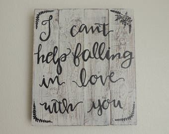 Loving You Wooden Sign