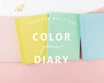 Set of 5-Solid Color Small Notebook Randomly Picked
