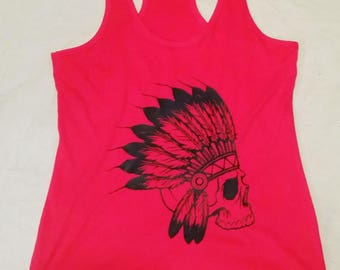 Skull Headdress tank top