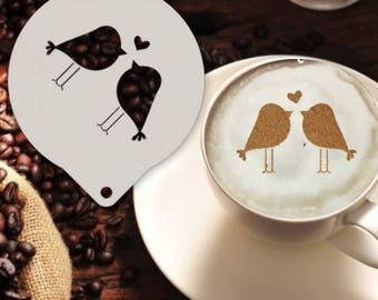 Lovebirds Stencil
