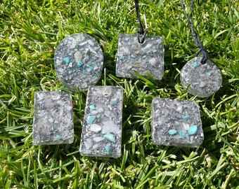 Silver howlite orgone pendants /phone buttons