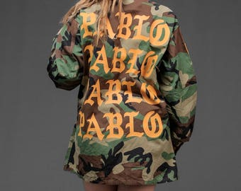 Yeezus Camo Influenced Vintage Jacket