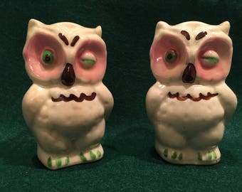 Vintage Shawnee Winking Owl salt & pepper shakers