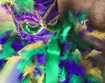Mardi Gras Pageant Dress 12-18 months