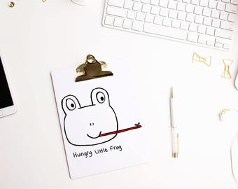 Hand Drawn Premade Logo - One of a Kind OOAK -  Hungry Frog Design