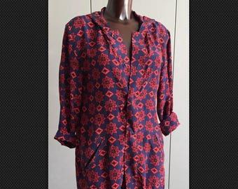 BALENCIAGA hooded silk floral print jacket size S-M