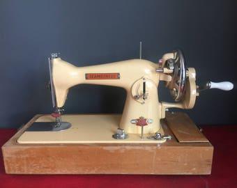 Vintage Yellow/Cream Seamstress Sewing Machine