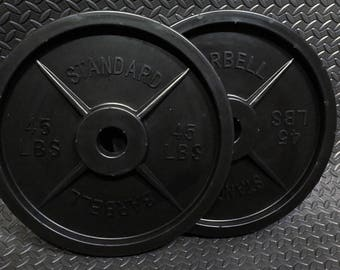 Plastic Barbell Weights - Pair
