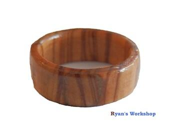 Olive Wood Ring Wooden Jewellery Fancy