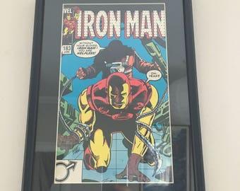 Original Framed Comic - Iron Man - June 1984