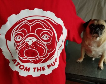 Atom the Pug Large Gear T-Shirt