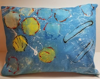 "Fine Art Pillow on Evolon® - ""Seashells"""