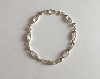 FISH BRACELET   / Sterling Silver Fish Bracelet