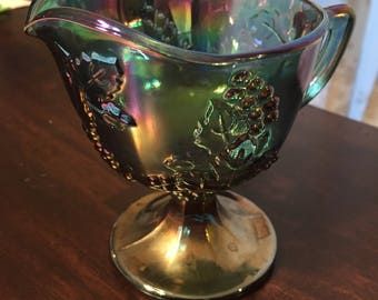 Carnival glass creamer