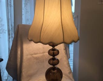 Vintage lamp with glass