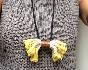 Sunshine yellow copper necklace