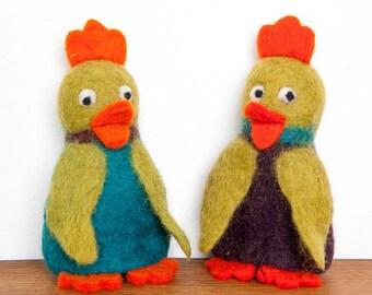 Egg duck felt Filztier handwork
