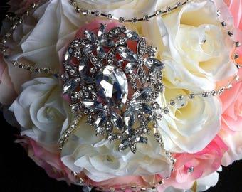 Silk brooch bouquet, 11