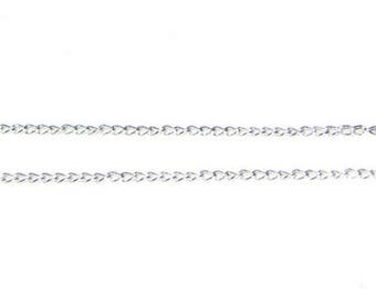 """1mm Silver Link Chain, 40"""" length"""