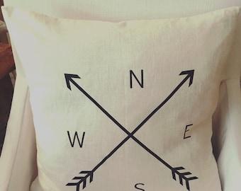 N E S W Farmhouse Pillow / Farmhouse Decor / Rustic