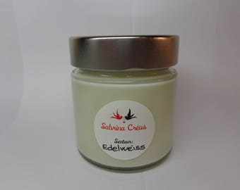 Vegetable soy wax scented Edelweiss.