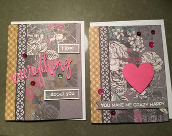 Handmade any occasions card, love card, Valentine's Day card, Anniversary card, birthday card,   perfect for her card