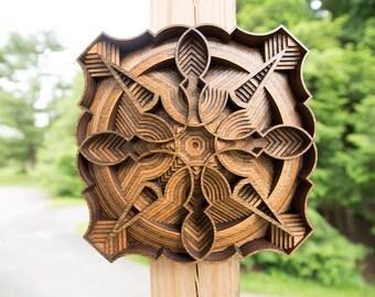 "Wall Art ""Poi Pet Mini"" Layered Wood Design"