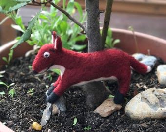 Needle felted Fox from The Gruffalo
