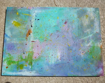 Abstract painting; acrylic, on wood panel