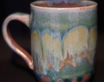 Coffee Mug - Tea cup - Hand Thrown Ceramic Mug - green mug - Stoneware Mug - Wheel Thrown - Handmade Mug - Pottery Mug