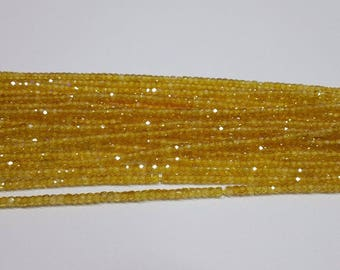 """FULL 13"""" Strand AAA Quality yellow Color Zircon Drilled Faceted Rondelle Beads"""
