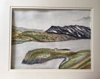 Newfoundland's Beautiful landscape! Watercolor Painting by Eva Beames.