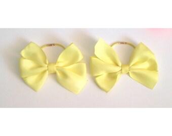 Yellow pinwheel bow bobbles handmade bobbles boutique bow bobbles kids bobbles childrens bobbles