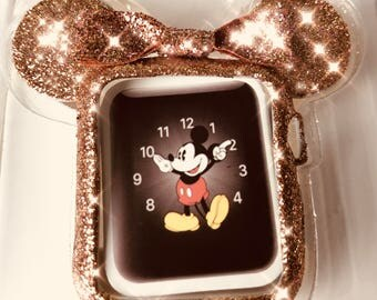 ROSE GOLD Limited edition  Apple Watch Case,  Mouse Ears available in  38 or 42 mm