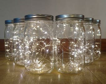 Mason Jar Fireflies-Mason Jar Firefly Lights-Mason Jar Lights-Mason Jar Wedding Centerpiece-Mason Jar Fairy Lights-Mason Jar Centerpiece