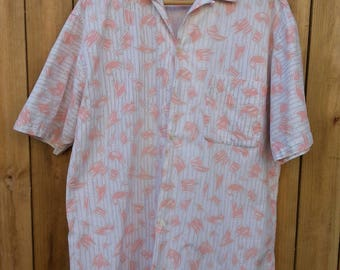 Mens Patterned Button Down Shirt