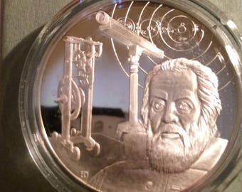 Galileo Galilei - Sterling Silver History of Science (Proof)