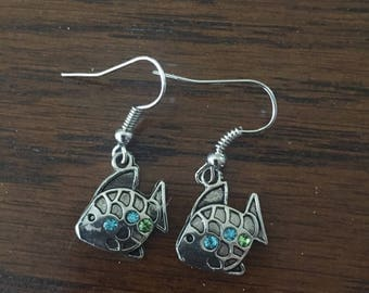 Jeweled Fish Earrings