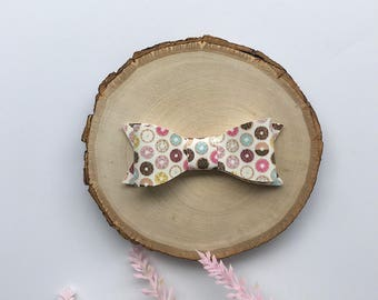 Donut Bow, Faux Leather Bow