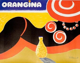 Orangina vintage reproduction poster.