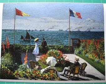 """""""Terrace at Saint"""" Claude monet."""