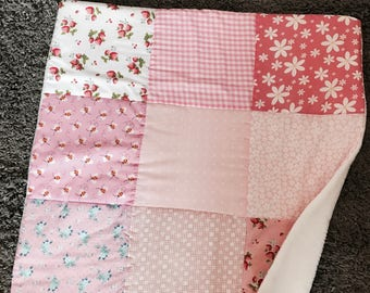 NEW baby patchwork blanket, blankie baby blanket