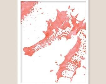 Tropical Ocean Sea Life - Seahorse Print