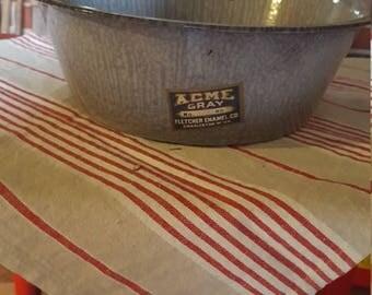 Acme enamelware bowl