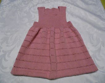 Baby powder pink cotton dress size 12-18 months