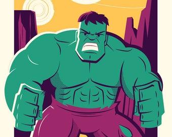 Dave Perillo, Incredible Since 1962, Incredible Hulk, Hulk, Marvel, Comics, Limited Edition, Print, Art, Screenprint,