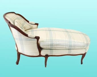 Vintage French style chaise lounge -French Provincial - Mid-century