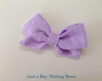 Purple Swiss Dot Bow JABMB